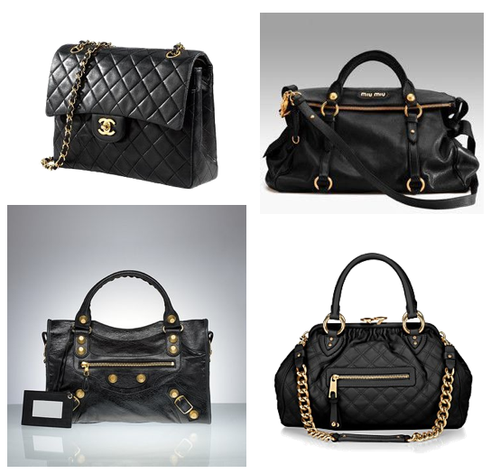 moodboard  Want of the Day  Black Bag with Gold Hardware fef23704e299