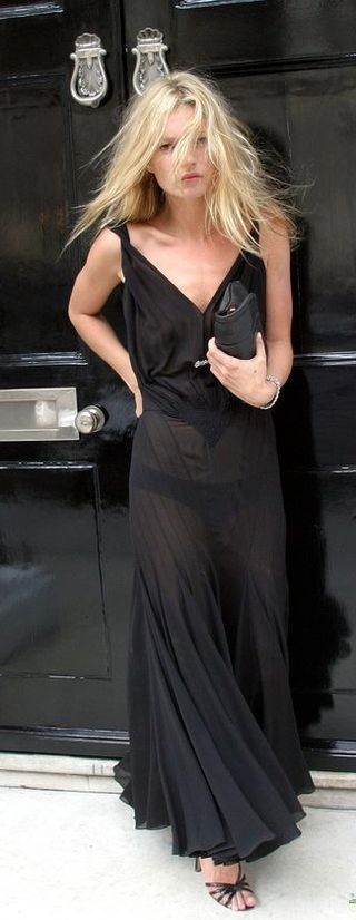 kate moss style 2009. Look of the Day: Kate Moss in