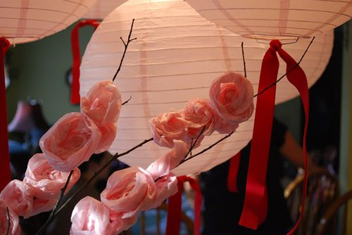 This posed a problem as large pink lanterns were part of the decoration