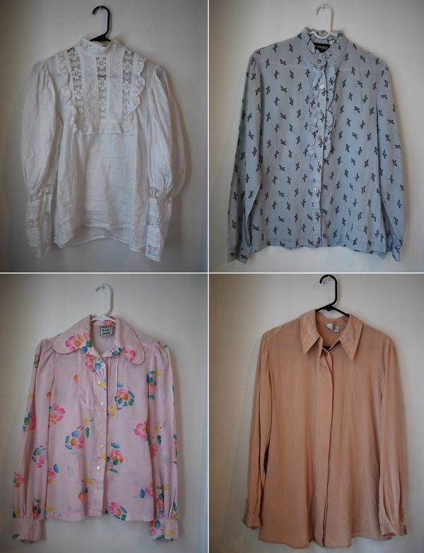moodboard: Spring Inspiration: Vintage Blouses Tucked Into Jeans
