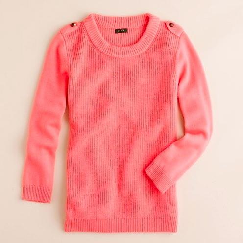 moodboard: Wishlist: J.Crew Hadley Sweater in Flamingo Pink